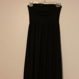 Xhilaration strapless black high-low dress